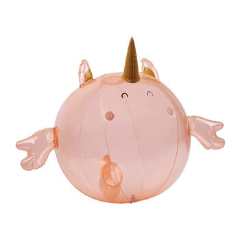 Inflatable Seahorse Unicorn Buddy Ball - Peachy Pink
