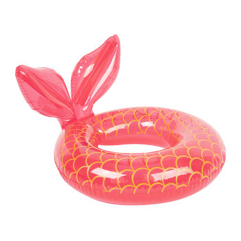 Mini Inflatable Mermaid Magique Pool Ring - Neon Pink