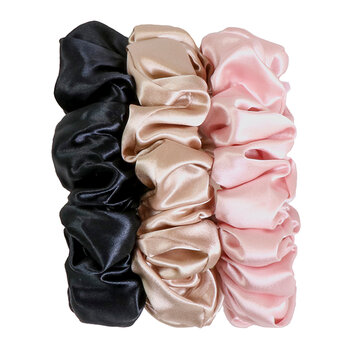 Slip Scrunchies - Set Of 3 - Multi