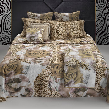 Rose Leopard Bed Set - Gold