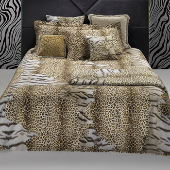 Tiger Leopard Bed Set - Gold