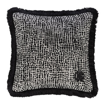 Skin Velvet Cushion - Black