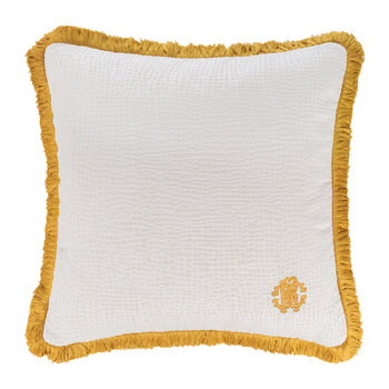 Skin Velvet Cushion - White