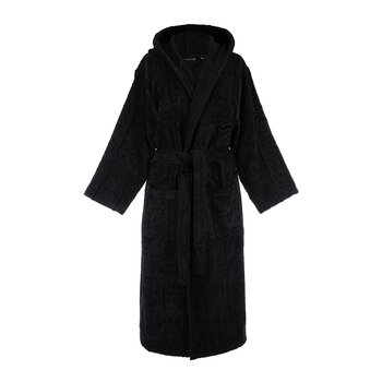 Araldico Hooded Bathrobe - Black