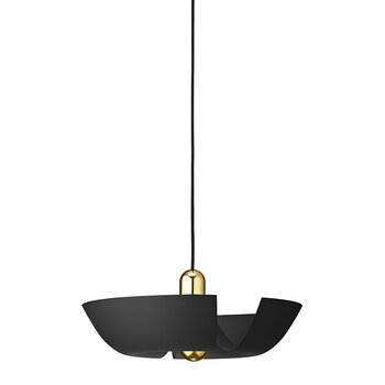 Cycnus Pendant Light - Black & Gold - Large