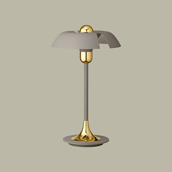 Cycnus Table Lamp - Taupe & Gold