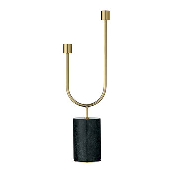 Grasil Candle Holder - Forest & Gold