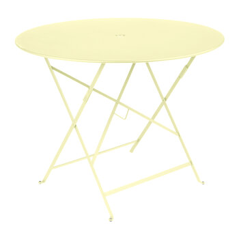 Bistro Garden Table - 96cm - Frosted Lemon