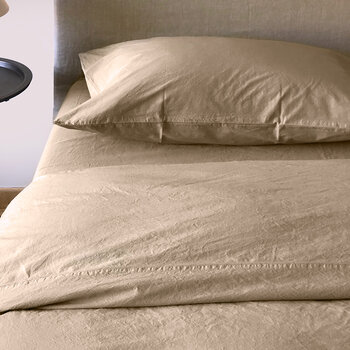 Pure Washed Cotton Duvet Cover - Sand