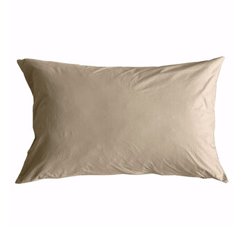 Pure Washed Cotton Pillowcase - Sand - 50x75cm