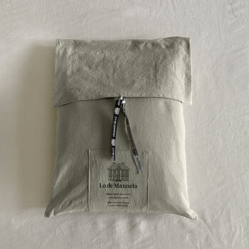 Pure Washed Cotton Fitted Sheet - Khaki