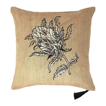 Thistle Linen Pillow - 45x45cm - Design 2