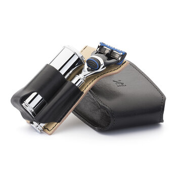 Fusion Razor Travel Set - Black Leather Case