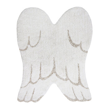 Wings Washable Mini Rug - Ivory - 75x100cm