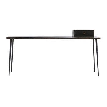 Club Console Table - Black Stained Wood
