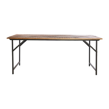 Party Dining Table - Natural/Black