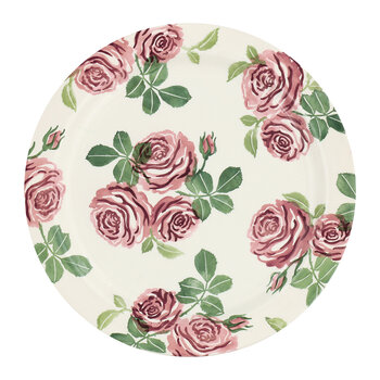 Pink Roses Plate - Serving Plate