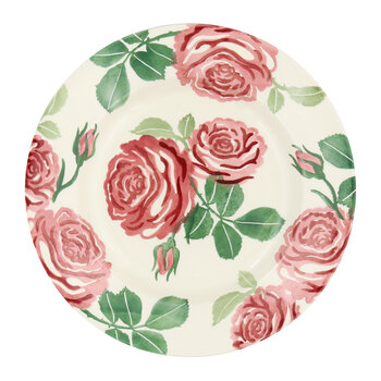 Pink Roses Plate - Salad Plate