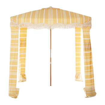 Premium Beach Cabana - Vintage Yellow Stripe