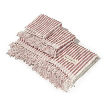The Bath Set - Set of 3 - Laurens Pink Stripe