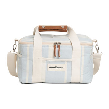 Premium Cooler Bag - Vintage Blue Stripe