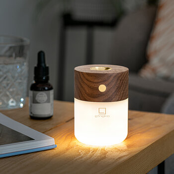 Smart Diffuser Lamp - Natural Walnut Wood