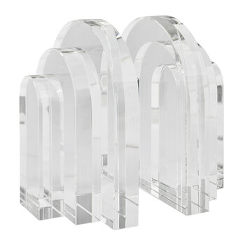 Palazzo Crystal Bookends - Clear