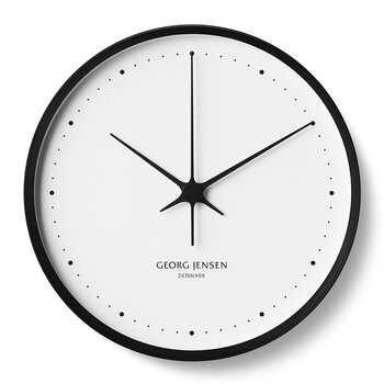 Henning Koppel Clock - 30cm - Black/White