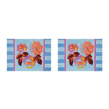 Bunch Of Roses Placemat - Blue