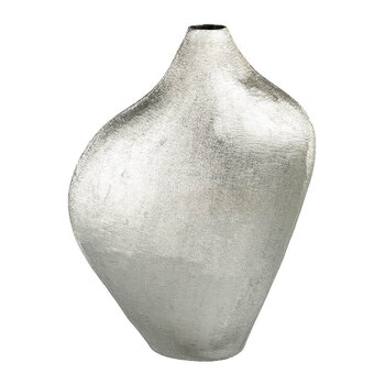Textured Curve Vase - Silver