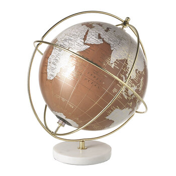 Globe with Marble Base - Spice/Gold