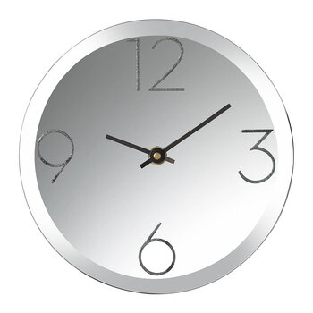 Mirrored Desk Clock - Black