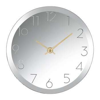 Mirrored Desk Clock - Gold