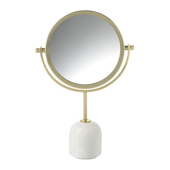 Ida Marble Table Mirror - White