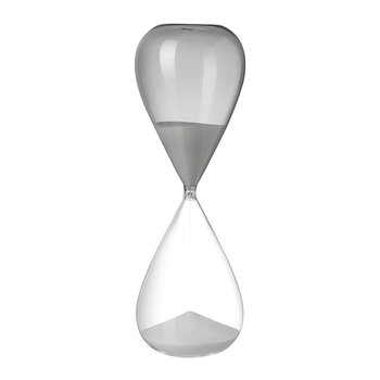 Glass Sand Timer - Gray/White