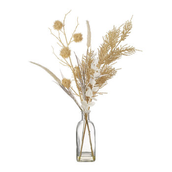 Dry Floral Arrangement in Vase - Small