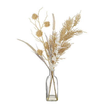 Dry Floral Arrangement in Vase - Large