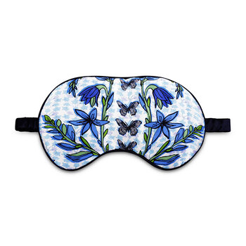 Folk Butterfly Eye Mask - Blue