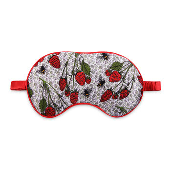Strawberry Garden Eye Mask - Red/White