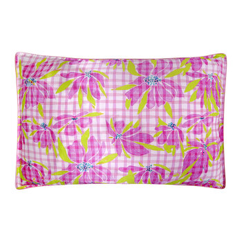 Water The Lily Pillowcase - Pink/Green
