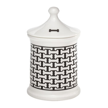 Bone Trellis Treat Jar - Black
