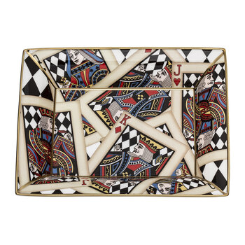 Lets Play Cards Trinket Tray - Gold