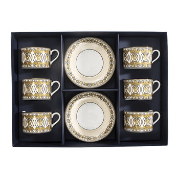 Historic Royal Palaces Kensington Teacup & Saucer - Set Of 6