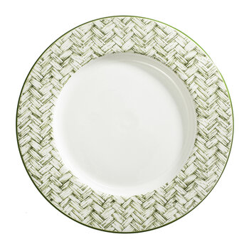 Nina Campbell x Marguerite Weave Charger Plate - White/Blue