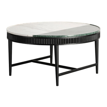 Mausam Coffee Table - Black Ash/Green/White