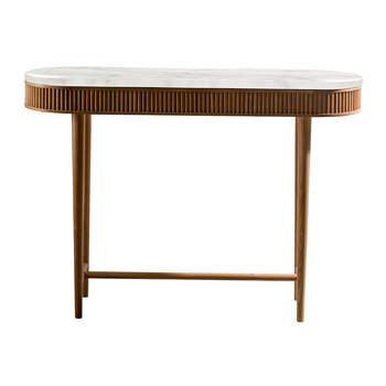 Mausam Console Table - Natural Ash/White