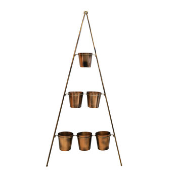 Vertical Metal Wall Plant Stand - Copper