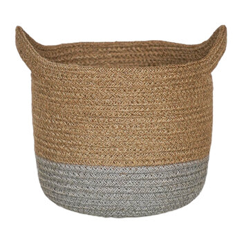 Geilo Jute Lined Basket- Set of 2 - Grey