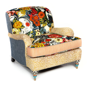 Painted Garden Accent Chair - Multi