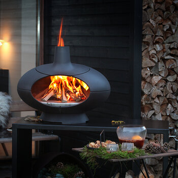 Forno Outdoor Oven/Firepit - Black